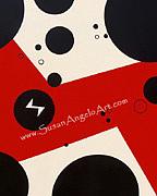 Paintings Painting - Dot Red by Susan-Angelo  DeBay