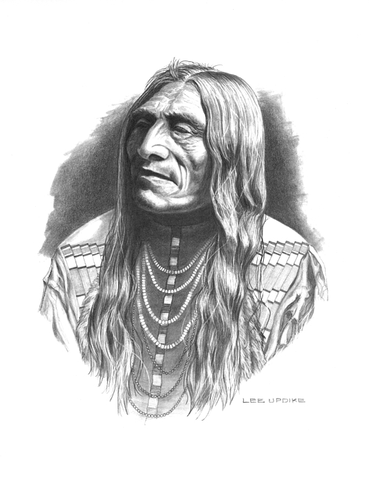 Piegan Tribe Drawing - Double Runner by Lee Updike