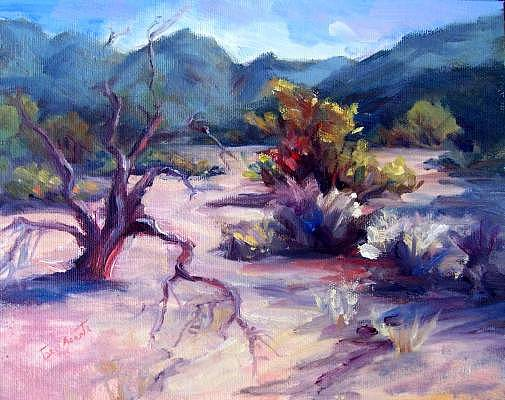Dove Mountain Wash Painting by Geri Acosta