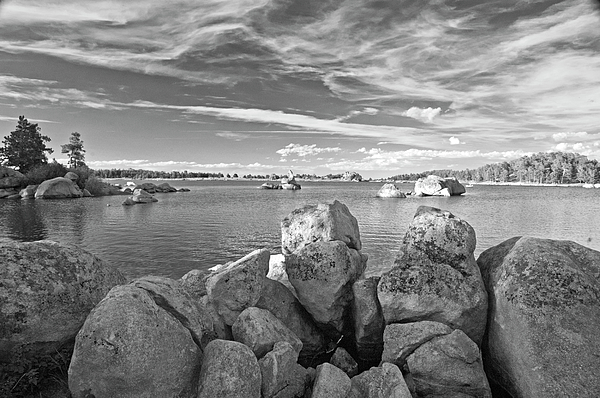 Dowdy Lake In Black And White Photograph by James Steele
