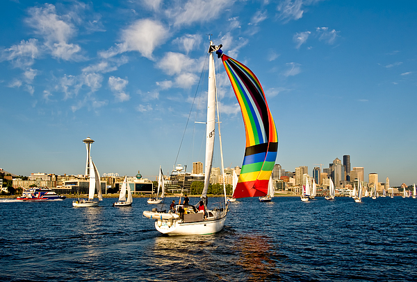 Seattle Photograph - Down Hill Run by Tom Dowd