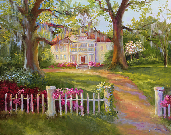 Country Home Painting - Down Near Mcclellanville by Jane Woodward