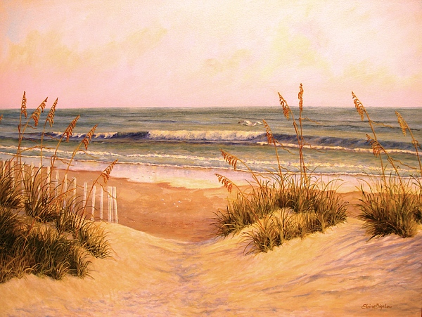 Down To The Sea Painting by Elaine Bigelow