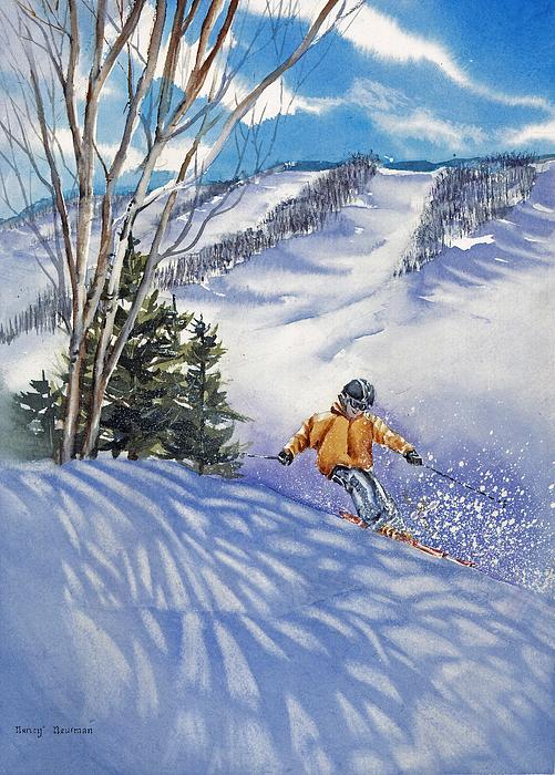 Boy Painting - Downhill-rhythm by Nancy Newman