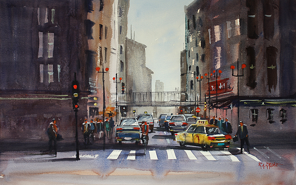Chicago Painting - Downtown Chicago by Ryan Radke