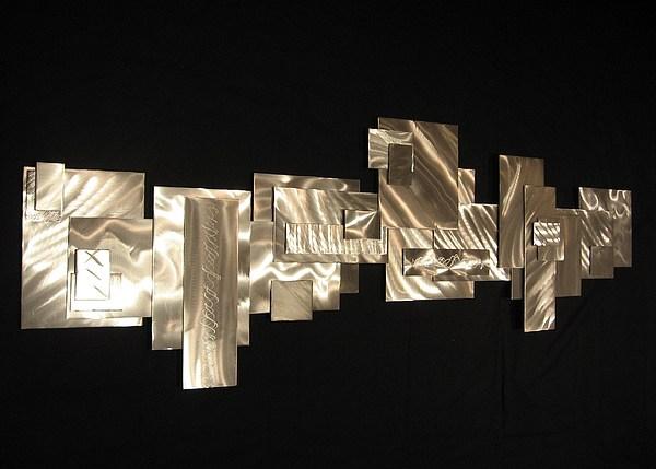 Metal Wall Sculpture Sculpture - Downtown by Dawn  Johnson