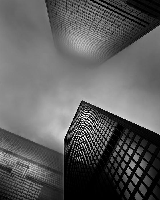 Brian Carson Photograph - Downtown Toronto Fogfest No 1 by Brian Carson