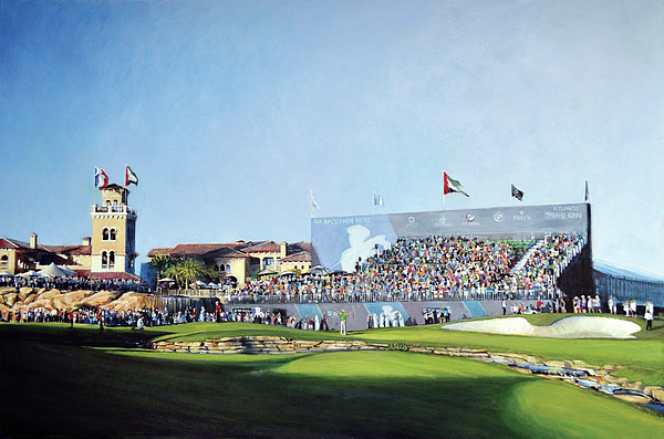 Mark Robinson Painting - Dp World Tour Championship 2015 - Open Edition by Mark Robinson