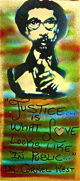 Harvard Painting - Dr. Cornel West Justice by Tony B Conscious