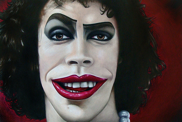 Rocky Drawing - Dr. Frank-n-furter by Kalie Hoodhood