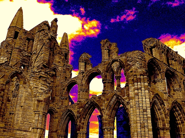 Whitby Photograph - Dracula Abbey In Whitby England by Jen White