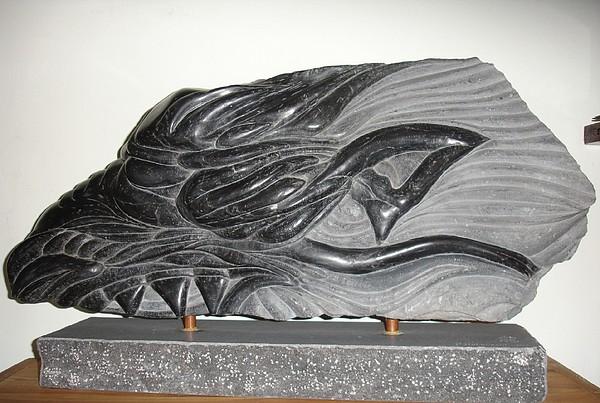 Dragon Sculpture - Dragon Head by Paul Holbrecht