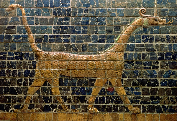 Dragon Photograph - Dragon Of Marduk - On The Ishtar Gate by Anonymous