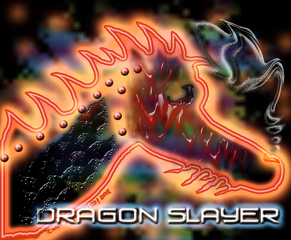 Dragon Digital Art - Dragon Slayer by Cheri Doyle