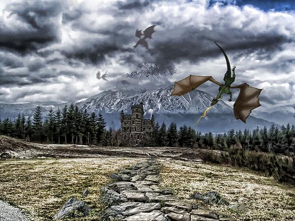 Dragons Photograph - Dragon Trail. by Anastasia Michaels