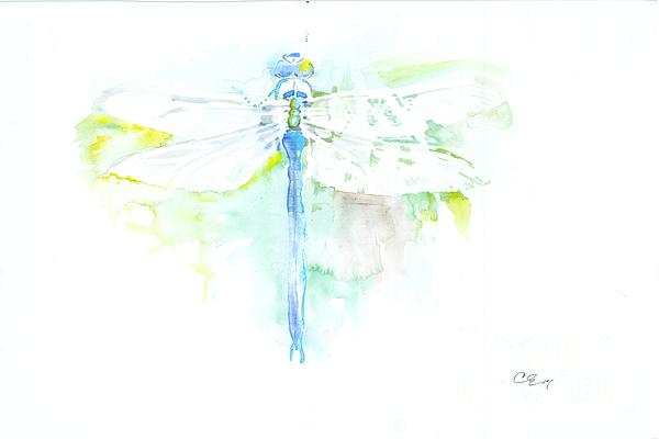Dragonfly Painting - Dragonfly by Cher Clemans