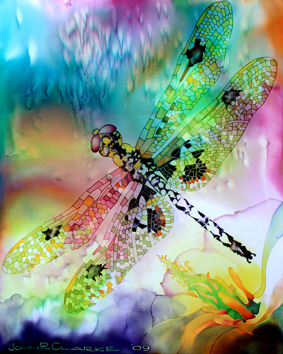 Dragonfly Painting - Dragonfly by John Clarke