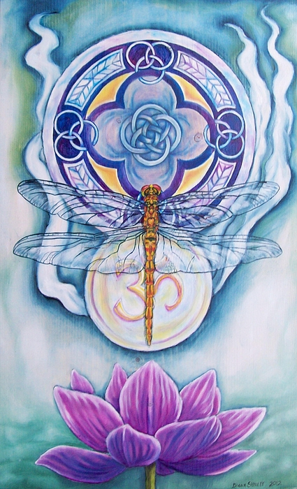 Dragonfly Painting - Dragonfly Spirit by Diana Shively
