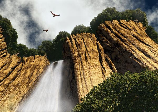 Canyon Digital Art - Dragons Den Canyon by Richard Rizzo