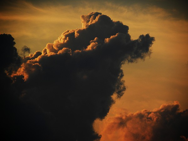 Clouds Photograph - Dragons Head by Kim Zwick