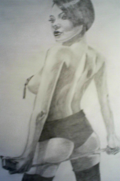 Model Drawing - drawing of Vikki Blows by James Dolan