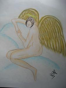 Angel Mixed Media - Dream Angel by Virginia Patrick