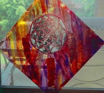 Glass Glass Art - Dream Catcher by Arnold Quentin
