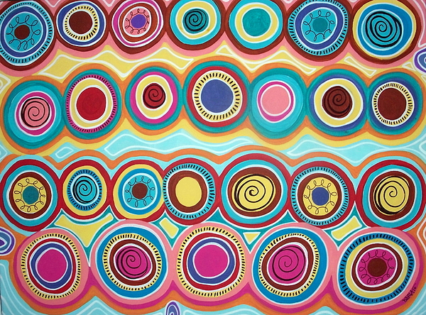Abstract Painting - Dream Circles by Karla Gerard