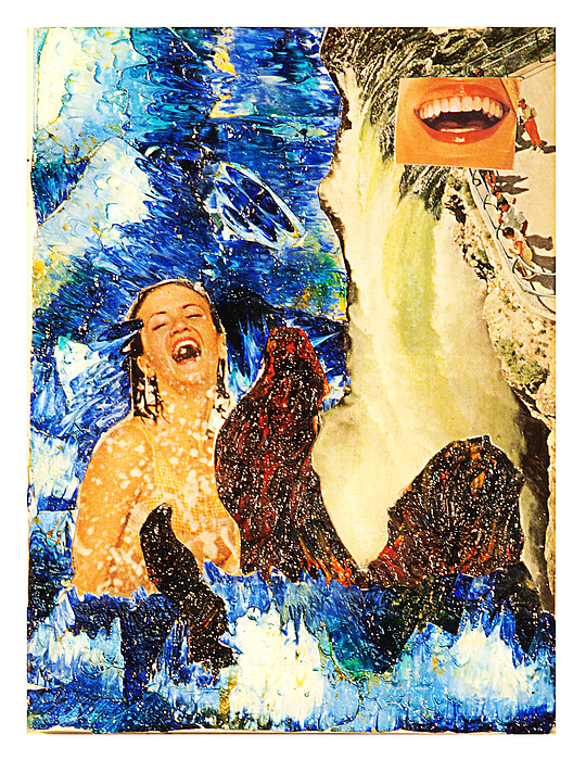 Collage Painting - Dream Of The Fishermans Wife by Howard Goldberg