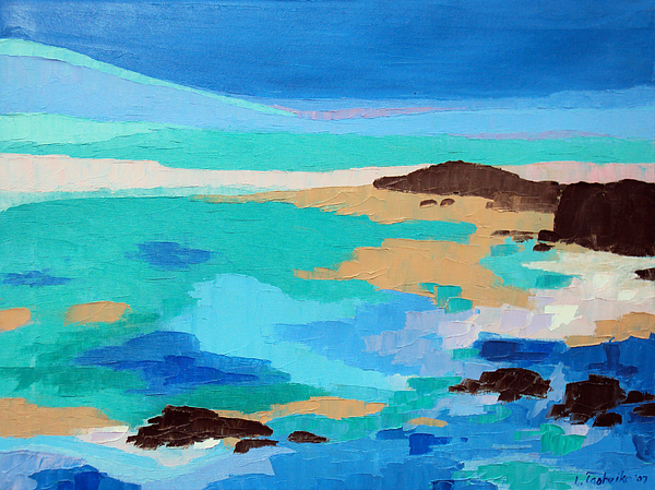 Maine Painting - Dream Scape 14  by Laura Tasheiko