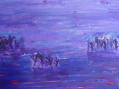 Purples Painting - Dream Trees by Jodi Drinkwater