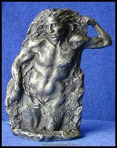 Nude Man Sculpture - Dreamer by Sharon Dee Shaughnessy