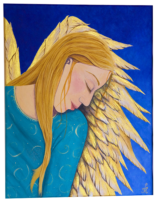 Painting Painting - Dreaming Angel by Jacqueline Lovesey