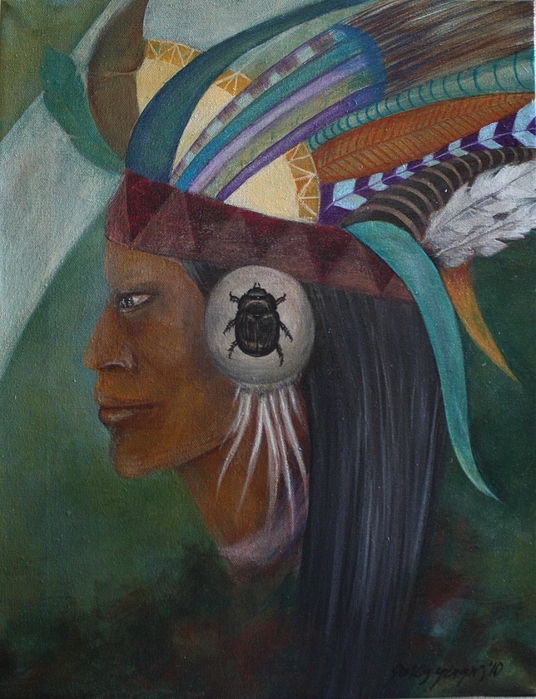 Dream Painting - Dreaming Native by Gonca Yengin