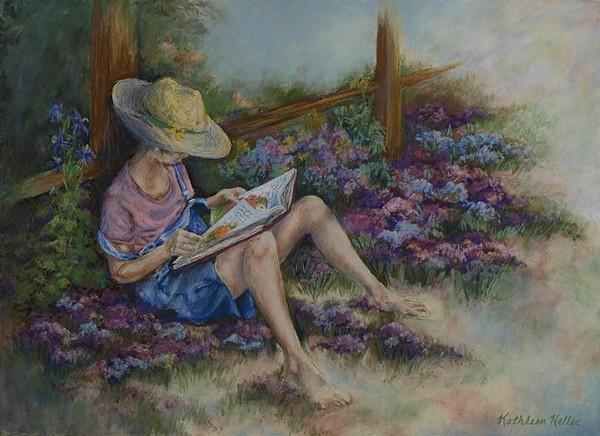 Girl Pastel - Dreaming Of Cinderella by Kathleen Keller
