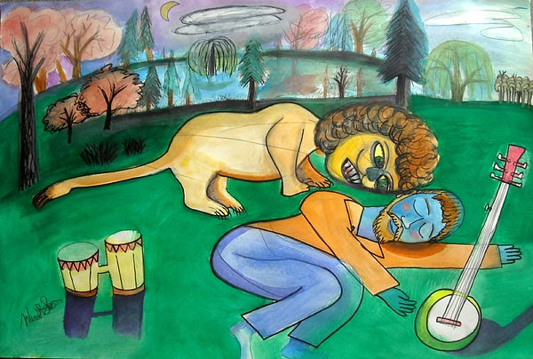 Dreaming Poet Painting by Ward Smith