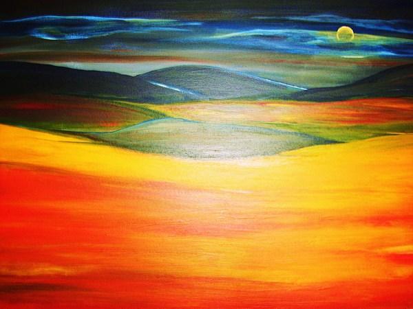 Landscapes Painting - Dreamlandscape by Hannelore Amon