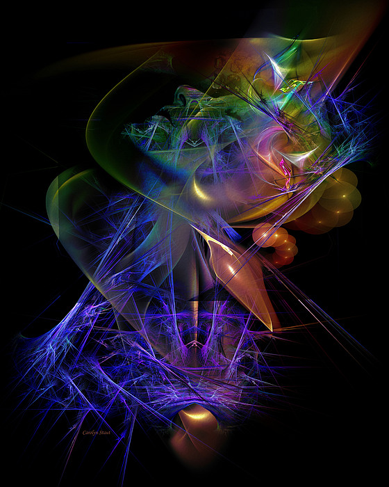 Digital Digital Art - Drenched In Color by Carolyn Staut