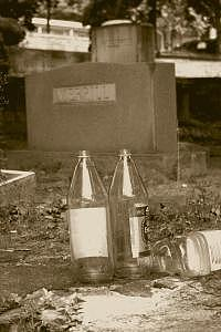 Grave Photograph - Drinking With Old Friends by Tim Clemons