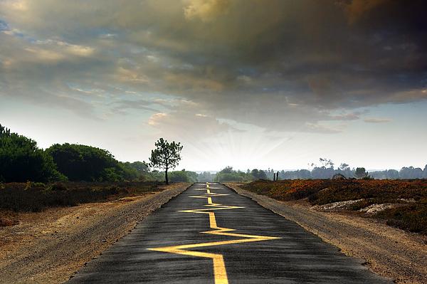 Asphalt Photograph - Drive Safely by Carlos Caetano