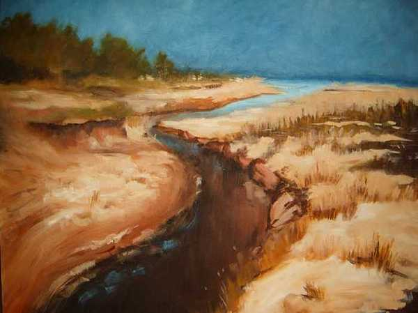 River Bed Painting - Dry River Bed by Nellie Visser
