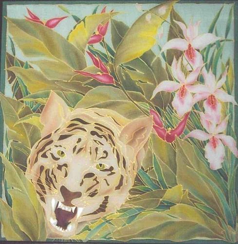 Silk Tapestry - Textile - Dschungel by Haike Espenhain