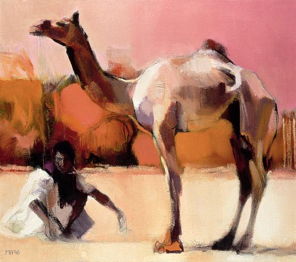 dsu and said rann of kutch painting by mark adlington