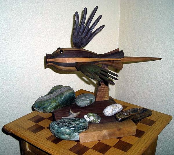 Wood Sculpture - Duality   by Aldo  Del Bosque