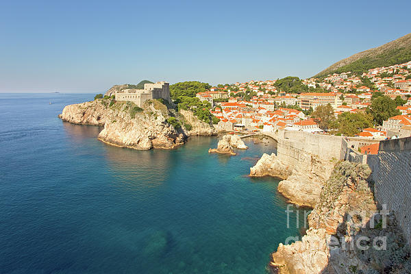 Adriatic Photograph - Dubrovnik City Walls And Inviting Adriatic by Matt Tilghman