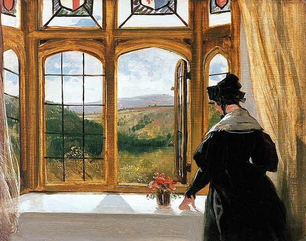 Landseer Painting - Duchess Of Abercorn Looking Out Of A Window by Sir Edwin Landseer