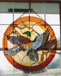 Ducks Glass Art - Ducks by Arnold Quentin