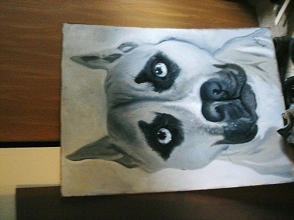 Dog Painting - Dufus by G Oktober