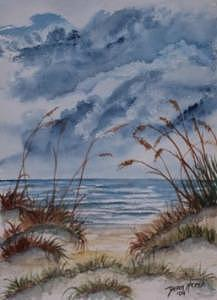 Dunes Seascape Fine Art Poster Print Seascape Painting by Derek Mccrea