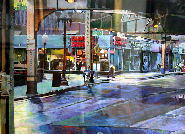 Cityscape Painting - Dunkin Donuts by Stuart Roddy